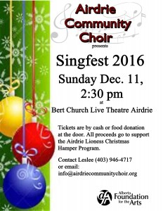 Singfest 2016 Dec 11 2016 2:30 pm